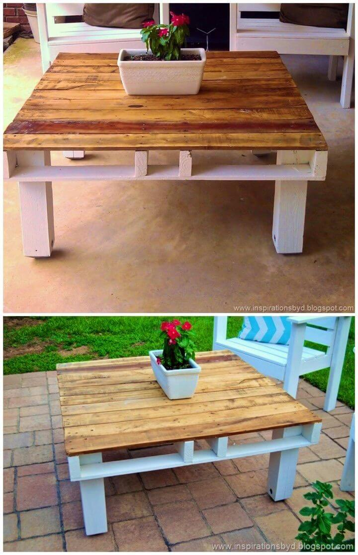 How to Make an Outdoor Pallet Table