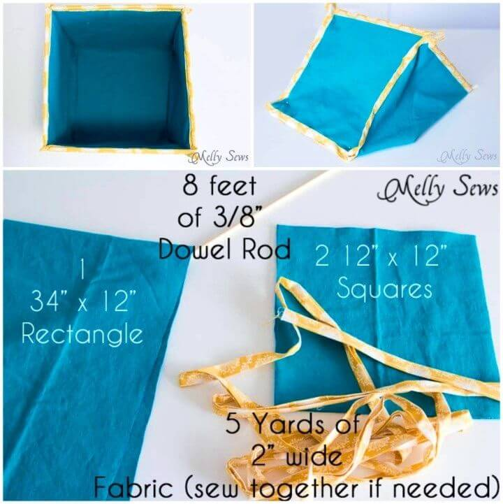 How to Sew Collapsible Toy Storage Boxes