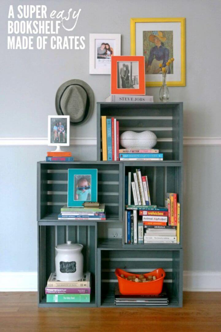 How to Turn Wooden Crate Into Bookshelf