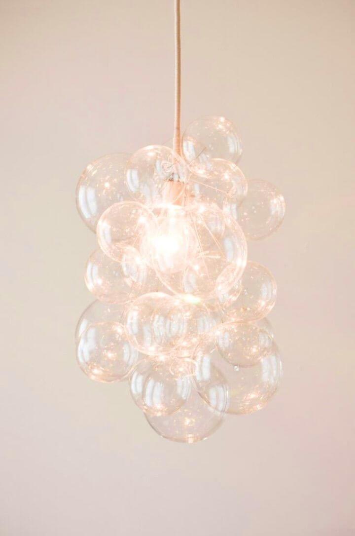 Inexpensive DIY Bubble Chandelier