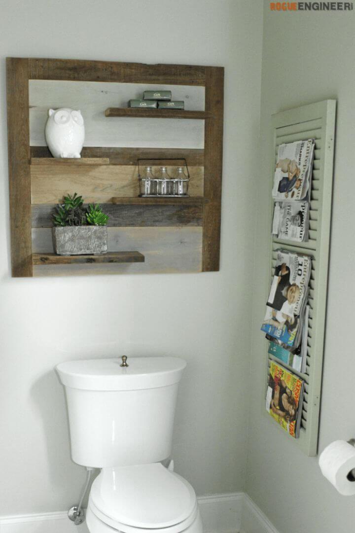 Inexpensive DIY Scrap Wood Shelf
