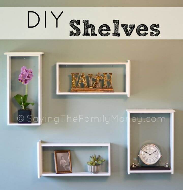 Inexpensive DIY Shelves Project