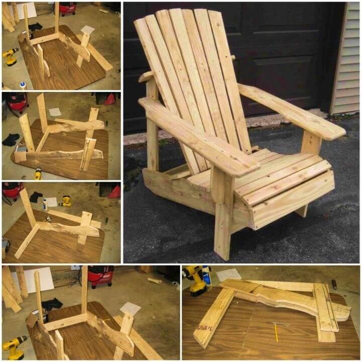 Inexpensive DIY Wooden Pallet Adirondack Chair