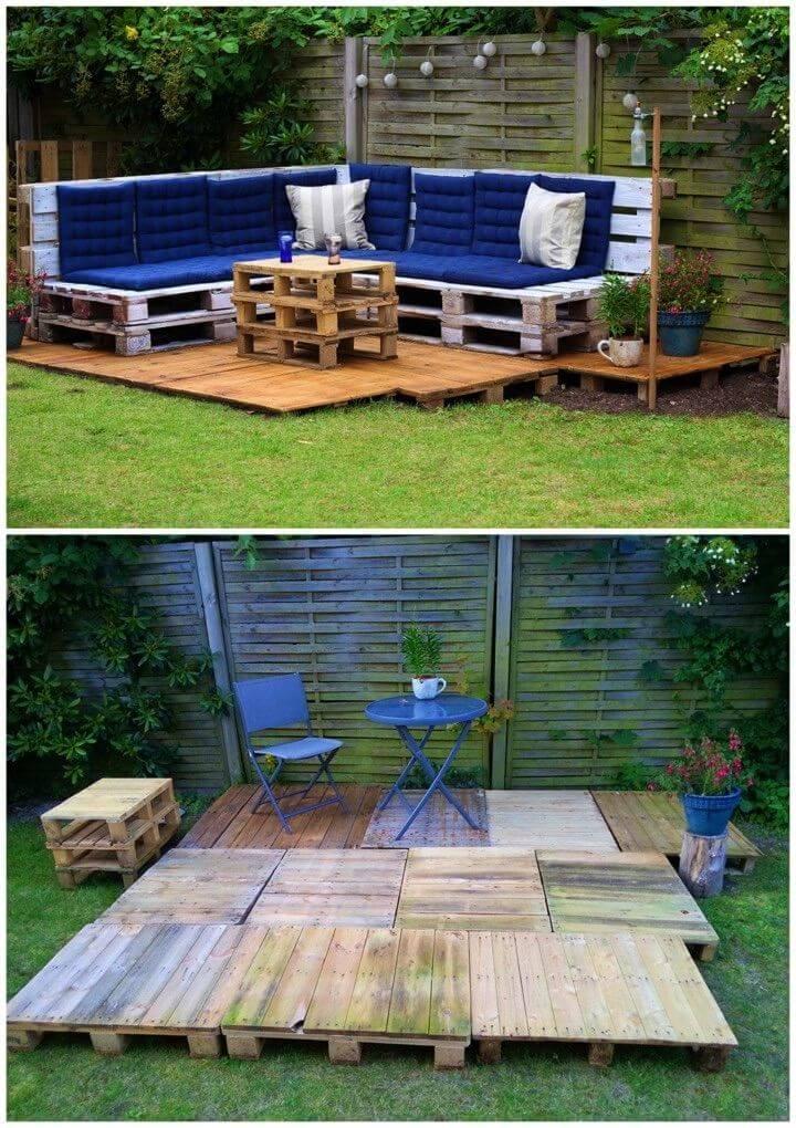Low Budget DIY Pallet Outdoor Lounge