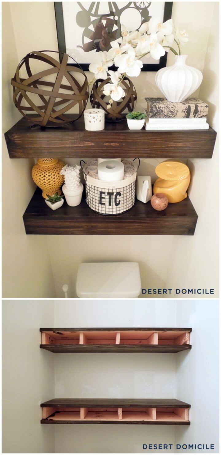 Make Chunky Wooden Floating Shelves