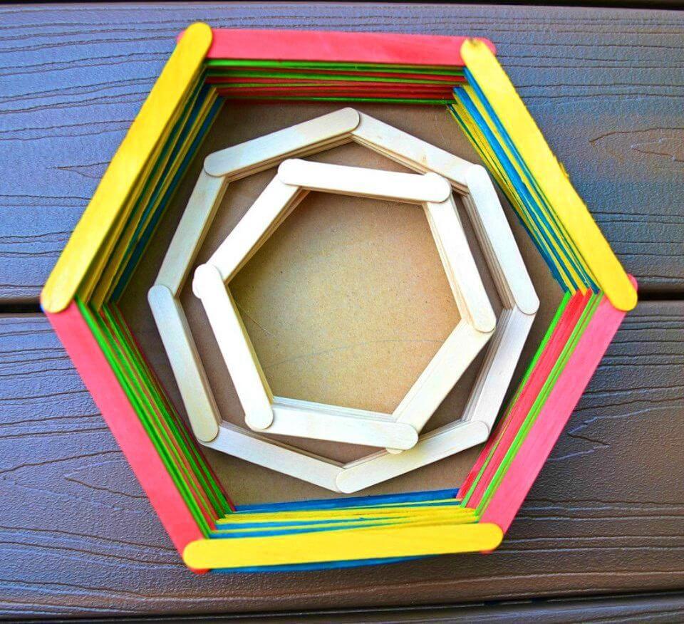 Make D Popsicle Stick Baskets