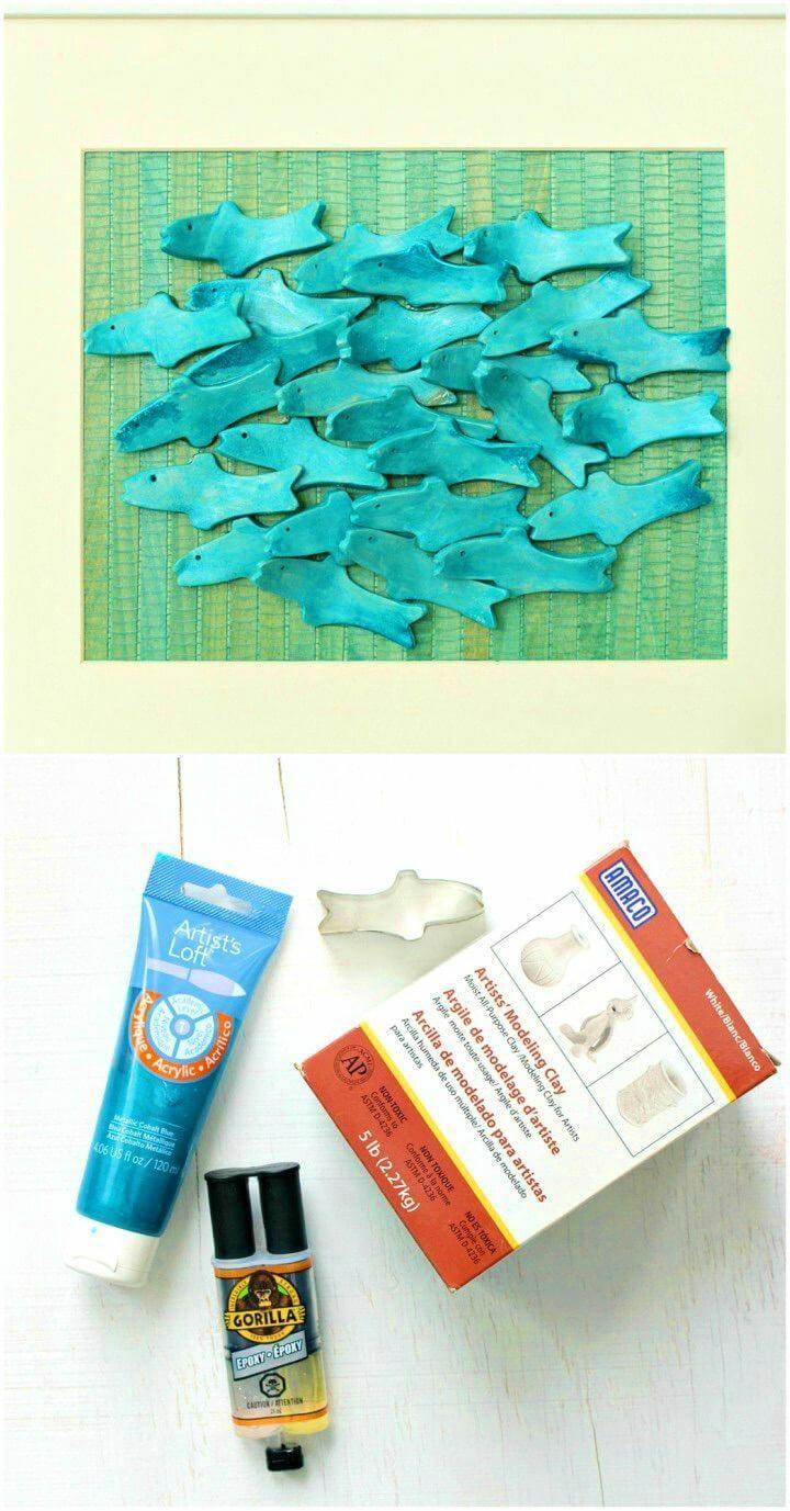 Make Air Dry Clay Art with Sculptural Fish