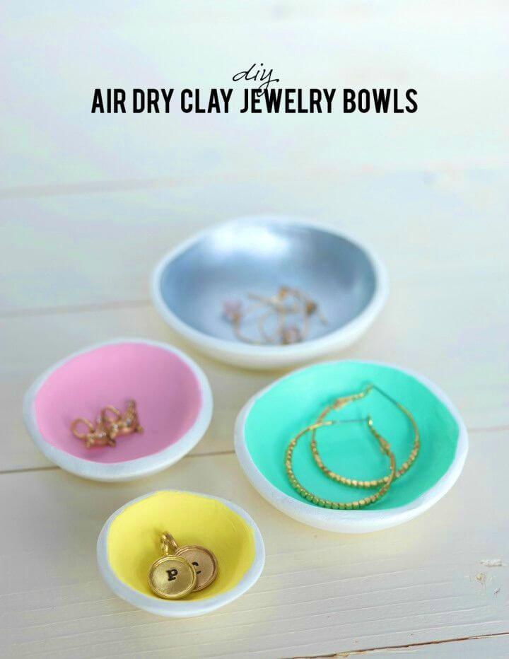 Make Air Dry Clay Jewelry Bowls