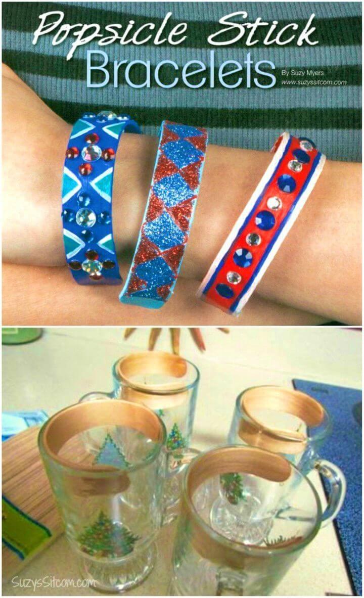Make Bracelets From Popsicle Sticks