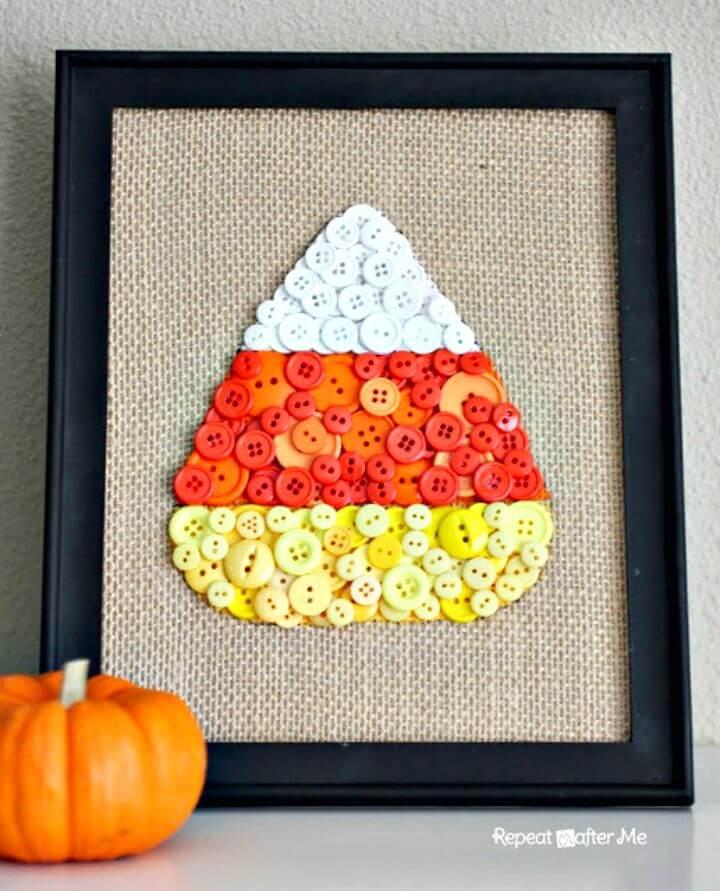 Make Candy Corn Button Art
