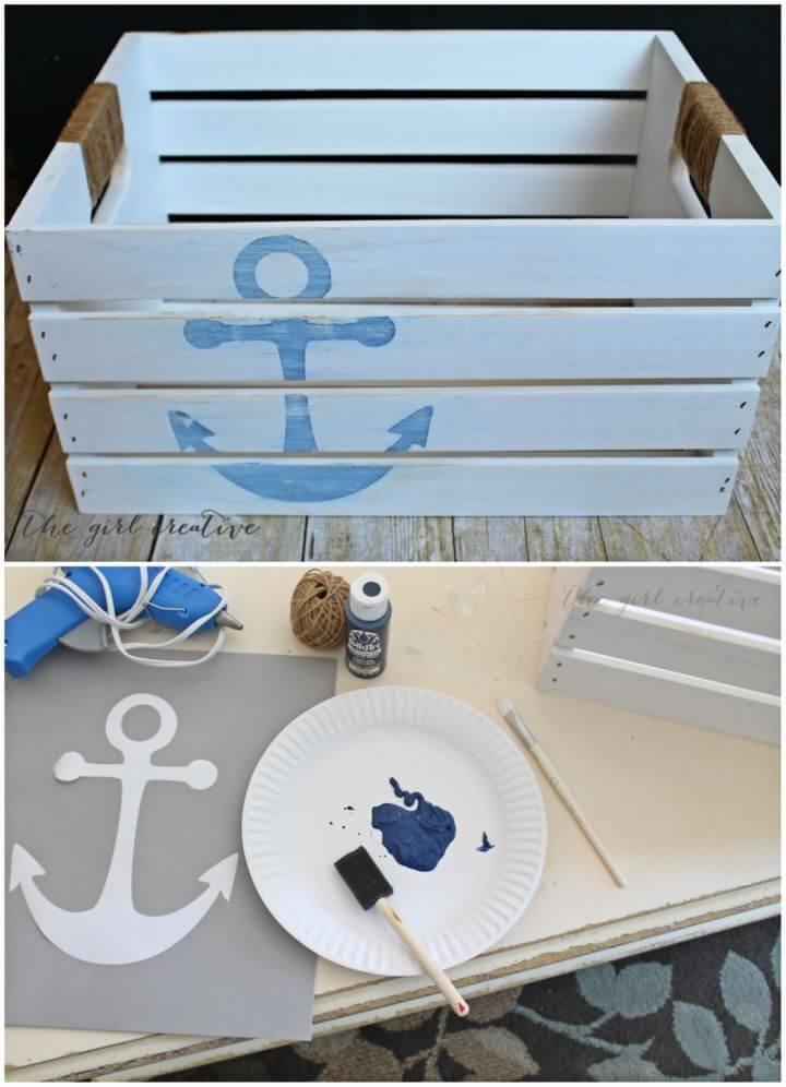 Make Distressed Nautical Crate