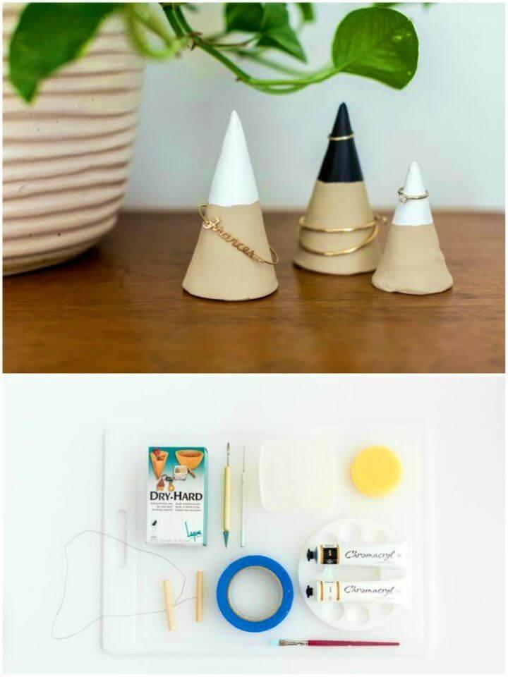 Make Faux Concrete Jewelry Cones