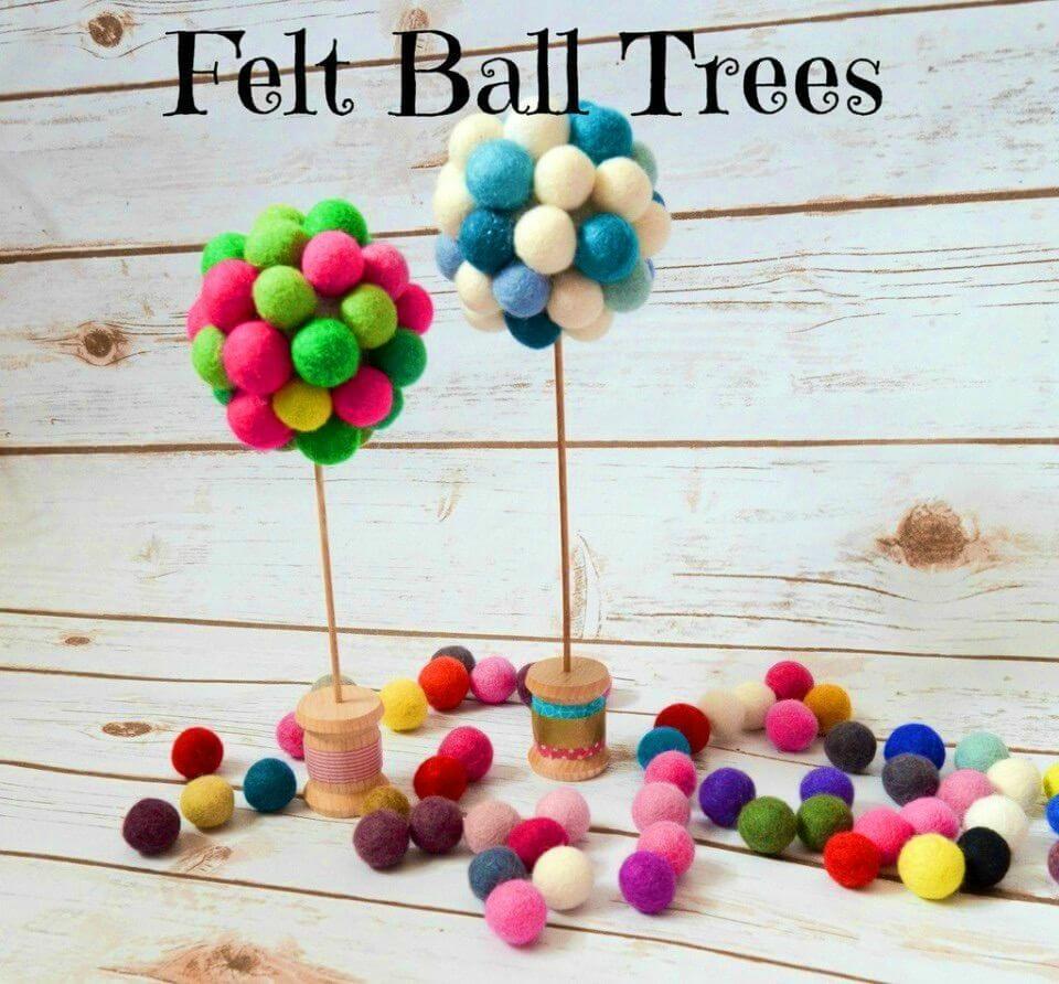 Make Felt Ball Trees