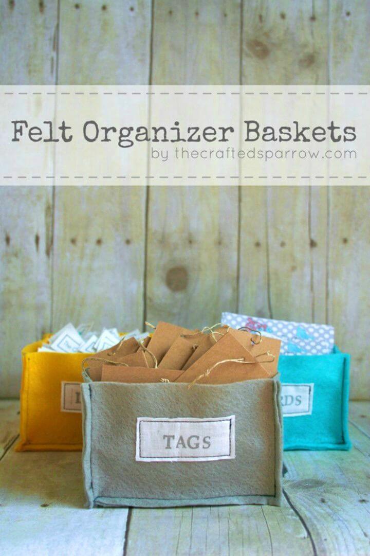 Make Felt Organizer Baskets