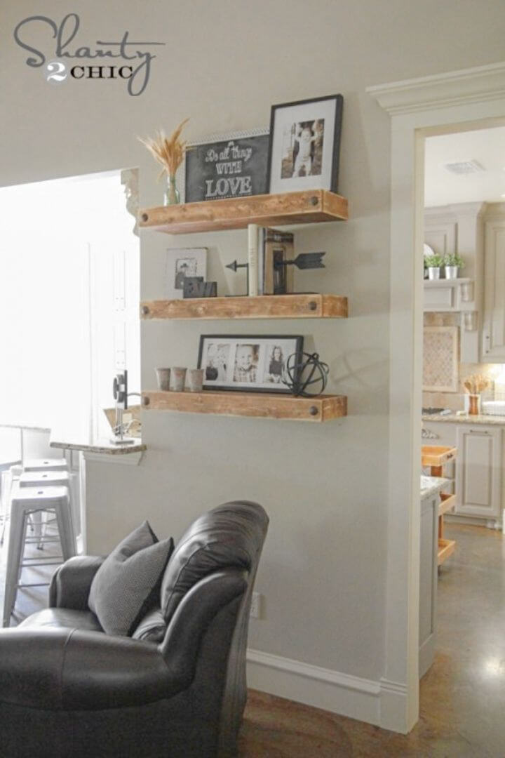 Make Floating Shelves With Clavos