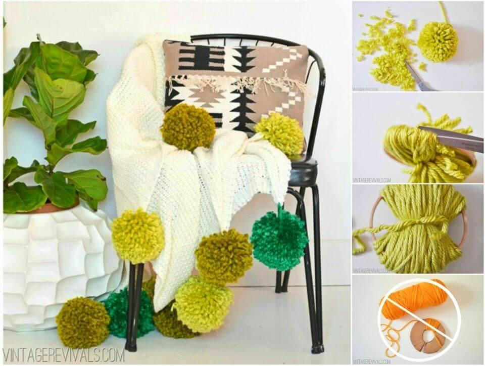 Make Giant Pom Poms Blanket