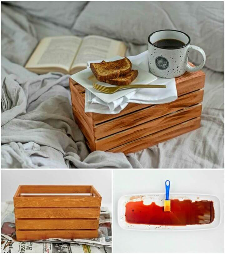 Make Hand antiqued Wood Crate