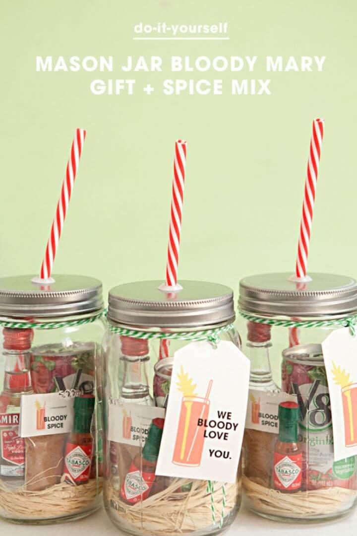 Make Mason Jar Bloody Mary Gift