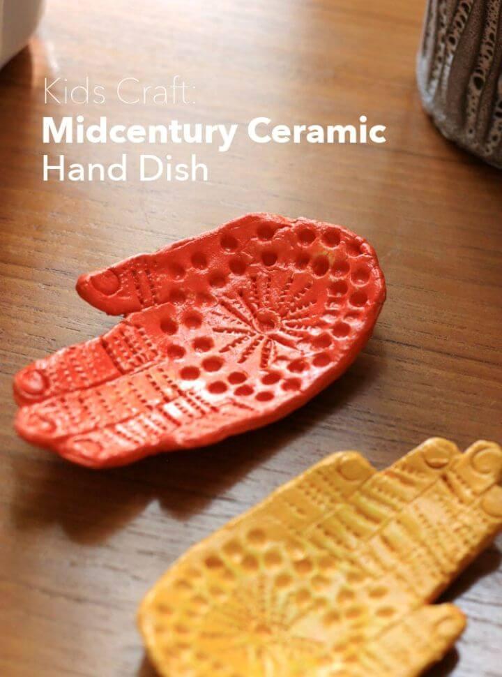 Make Mid Century Ceramic Hand Dish