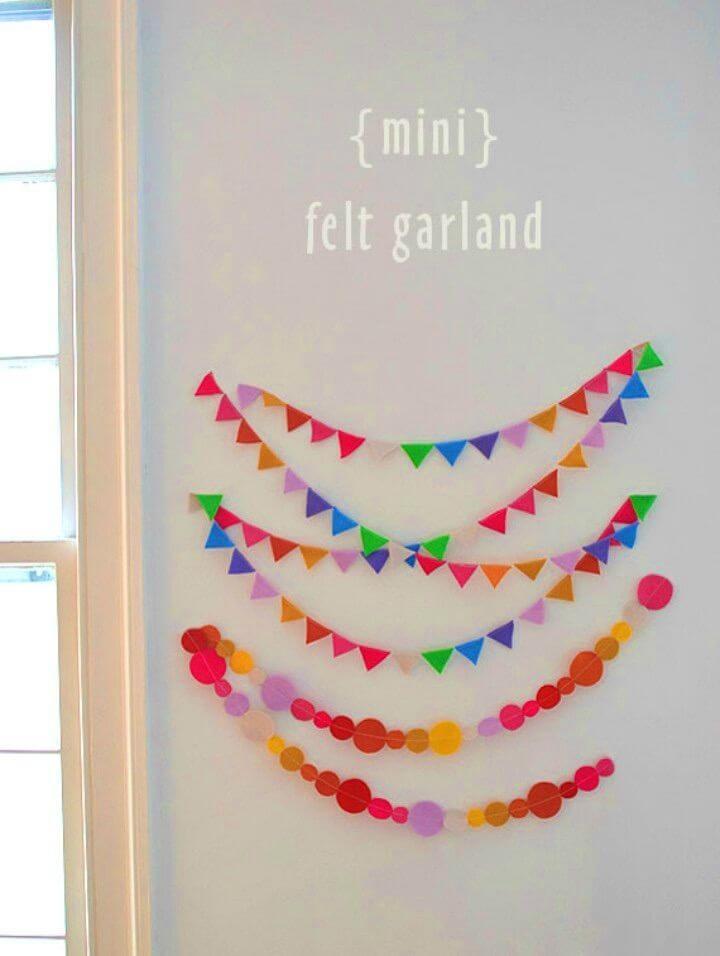 Make Mini Felt Garland