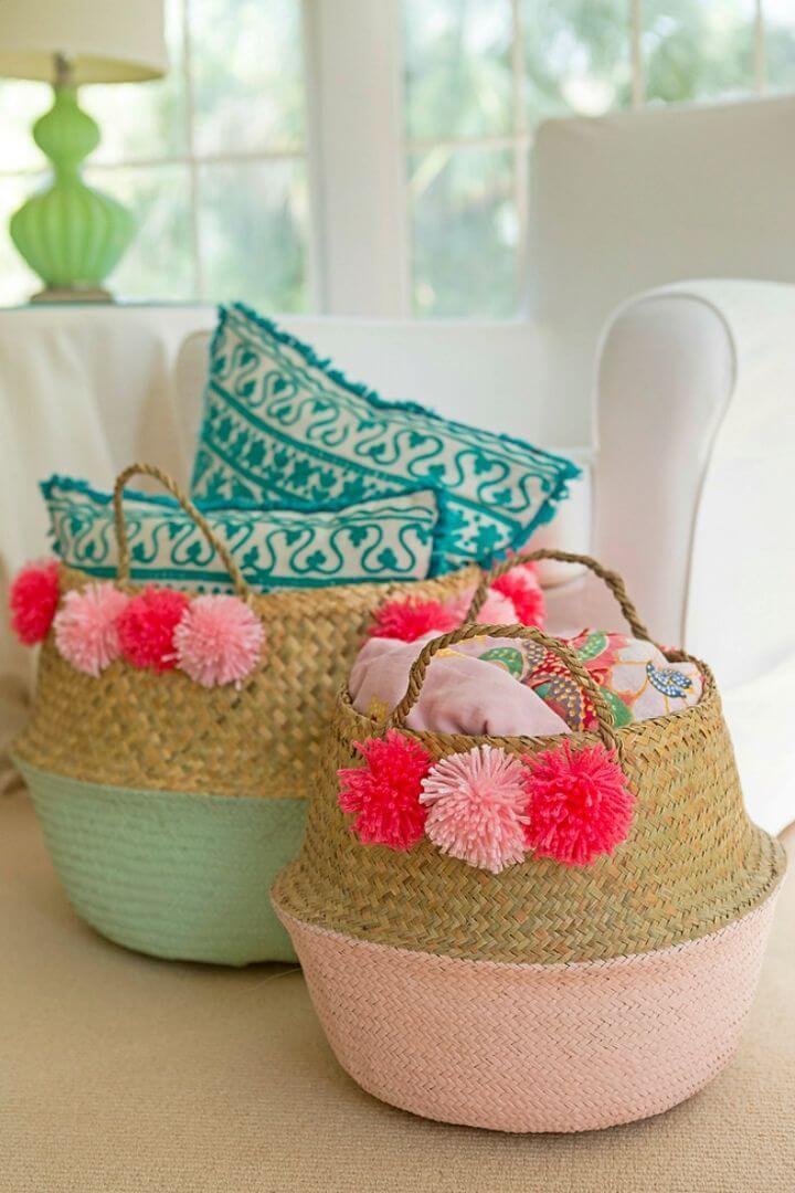 Make Pom Pom Basket
