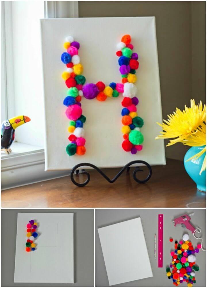 Make Pom pom Monogram Art
