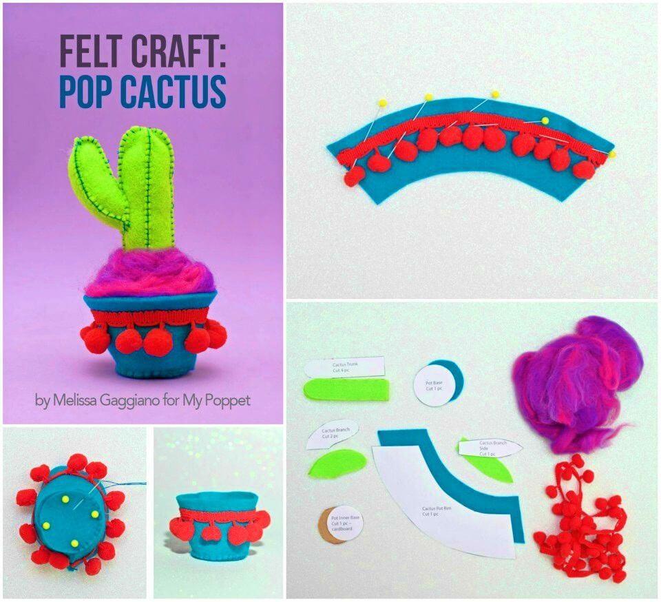 Make Pop Cactus Felt Craft
