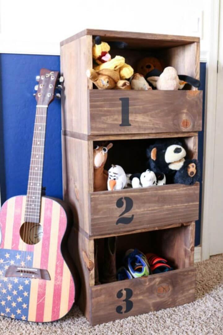 Make Stacking Toy Storage Cubbies