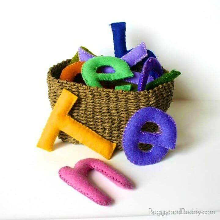 Make Stuffed Felt Alphabet Letters