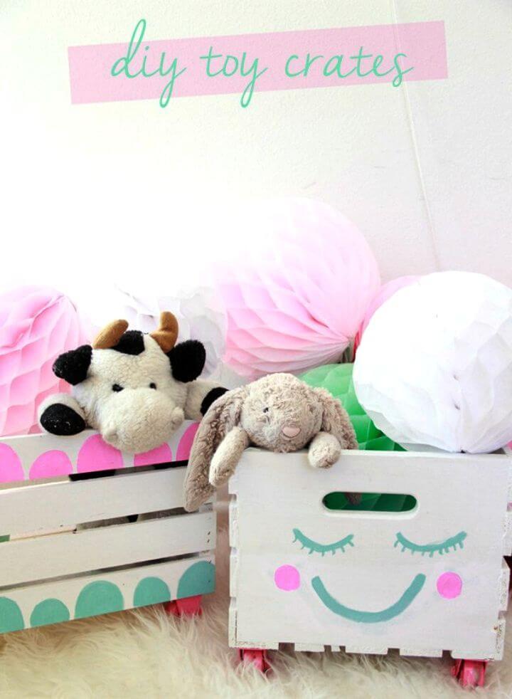 Make Toy Storage Crates Nursery