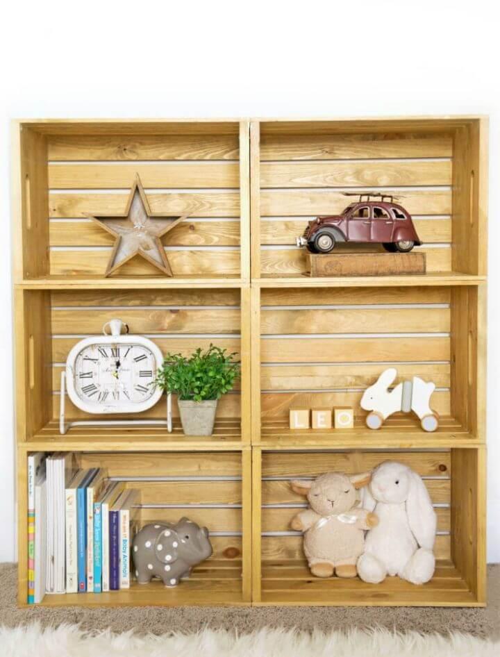 Make Wooden Crate Shelf