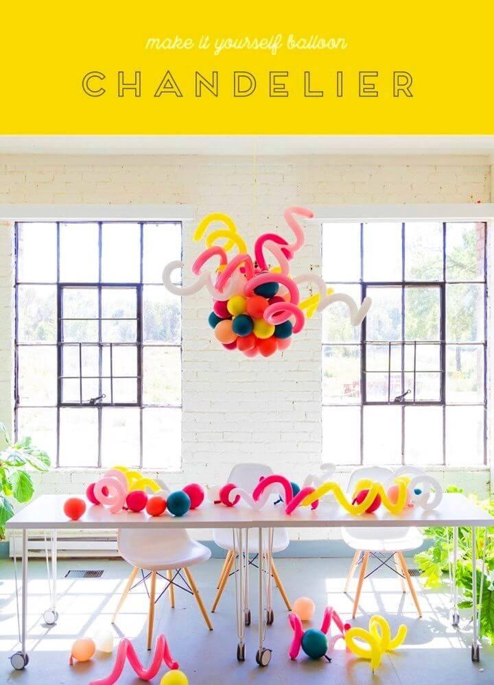Make Your Own Balloon Chandelier