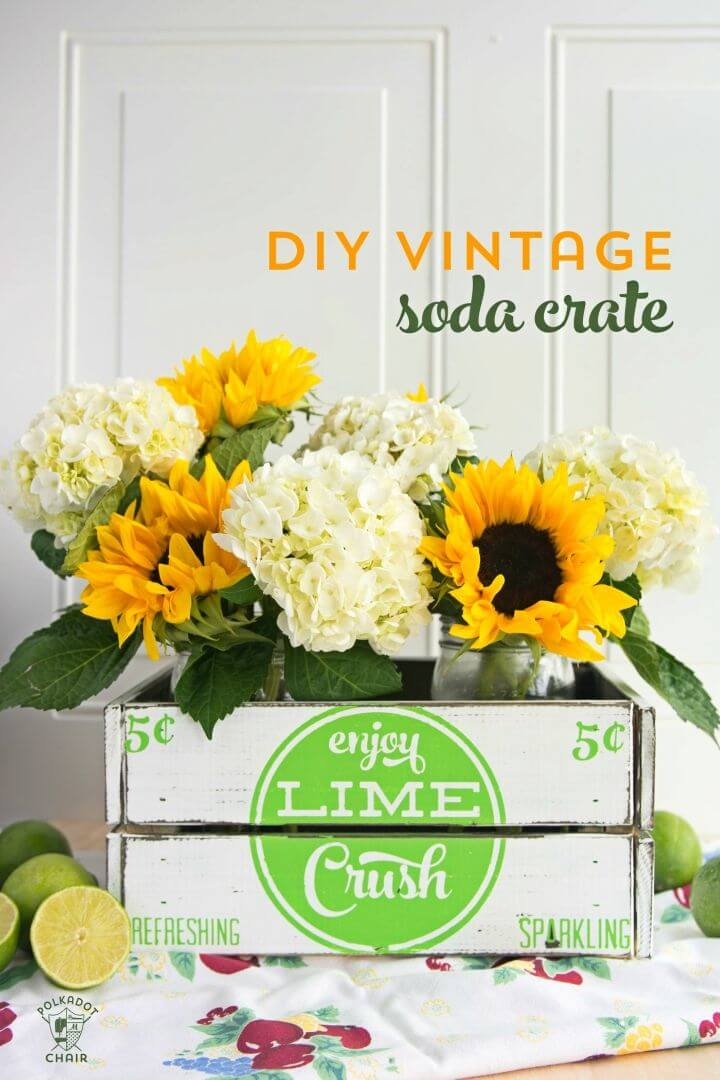 Make Your Own Farmhouse Decor Vintage Soda Crate