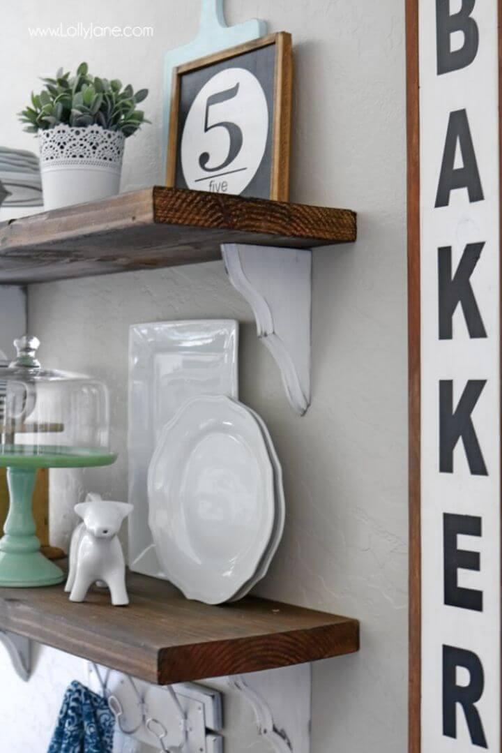 Make Your Own Farmhouse Shelves
