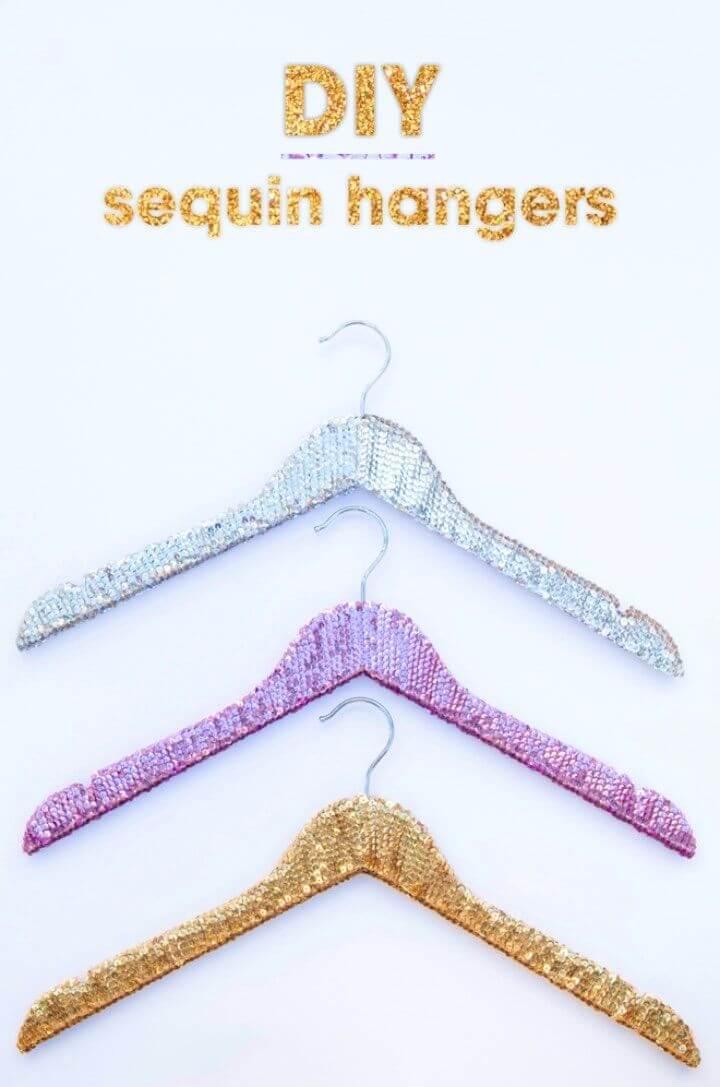Make Your Own Sequin Wedding Hangers