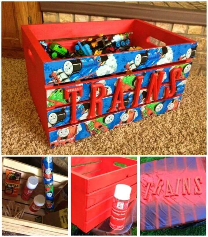 Make a Big Toy Storage Crate