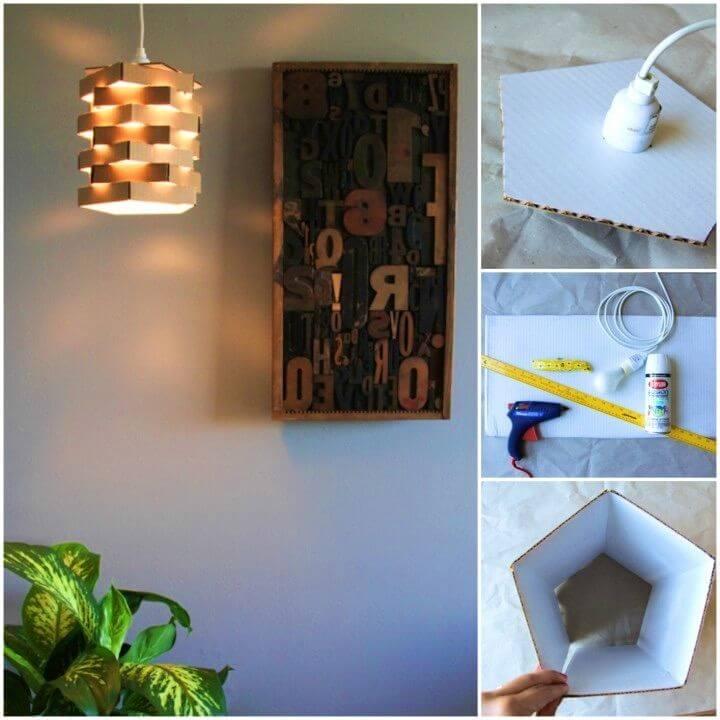 Make a Cardboard Pendant Light