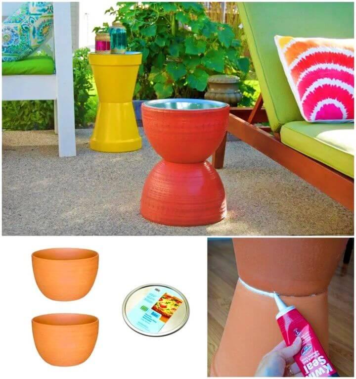 Make a Flower Pot Table for Garden