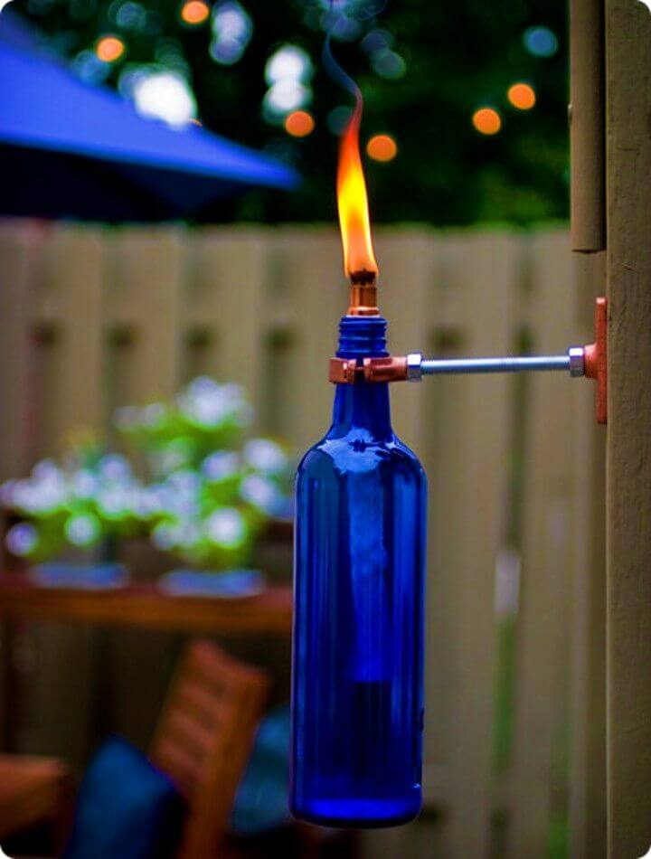Make an Erik's Recycled Wine Bottle Torch