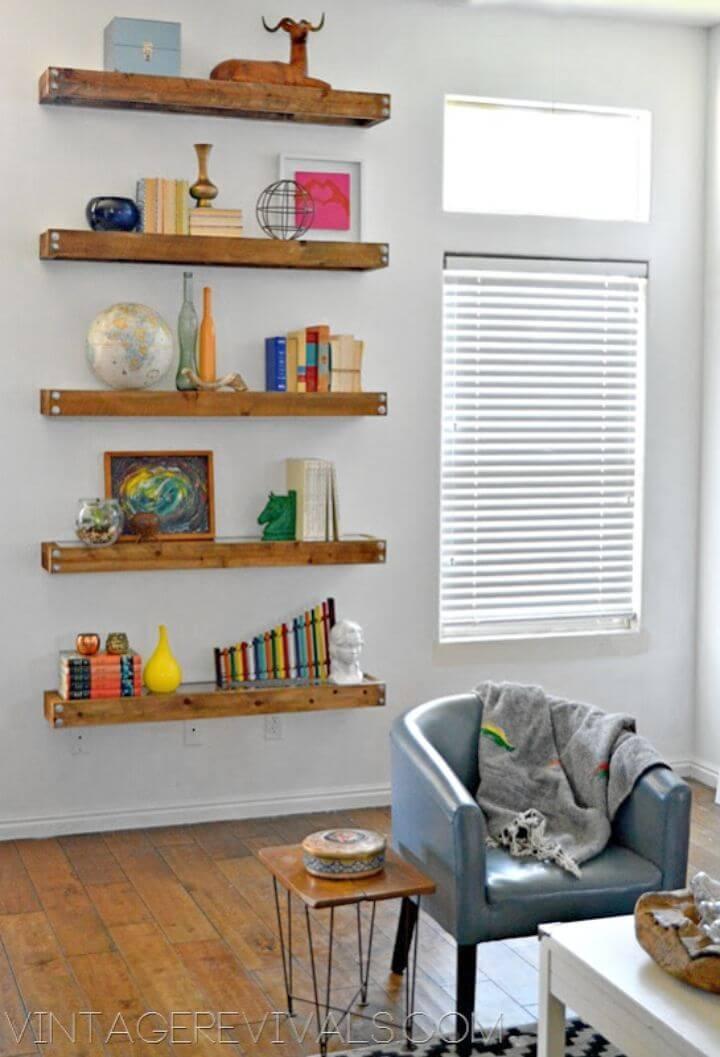 Modern DIY Industrial Floating Shelves