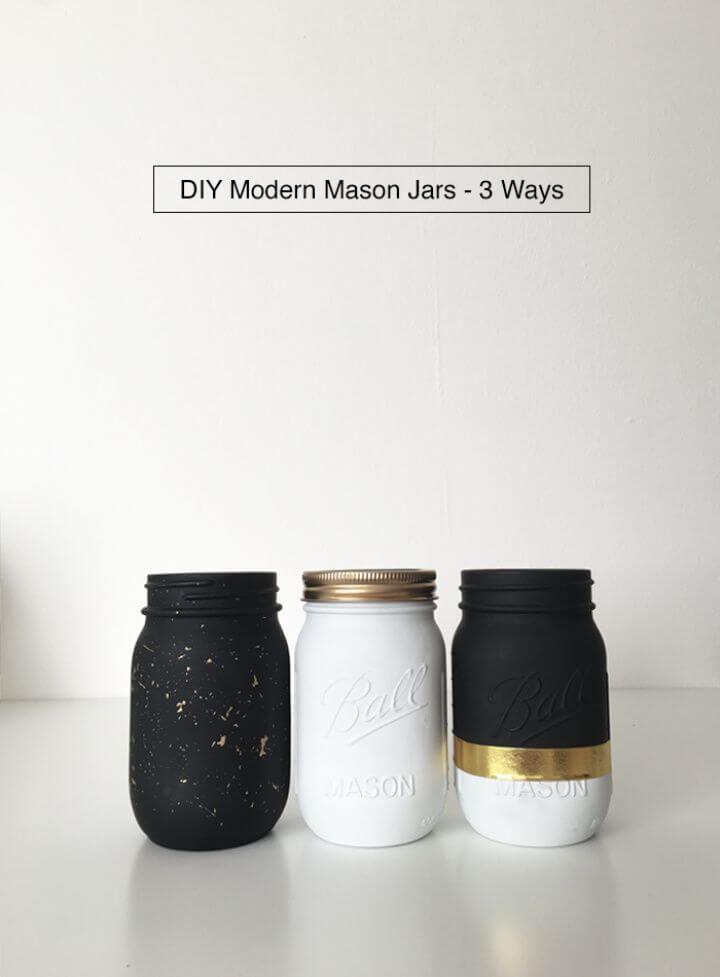 Modern DIY Mason Jars Gifts