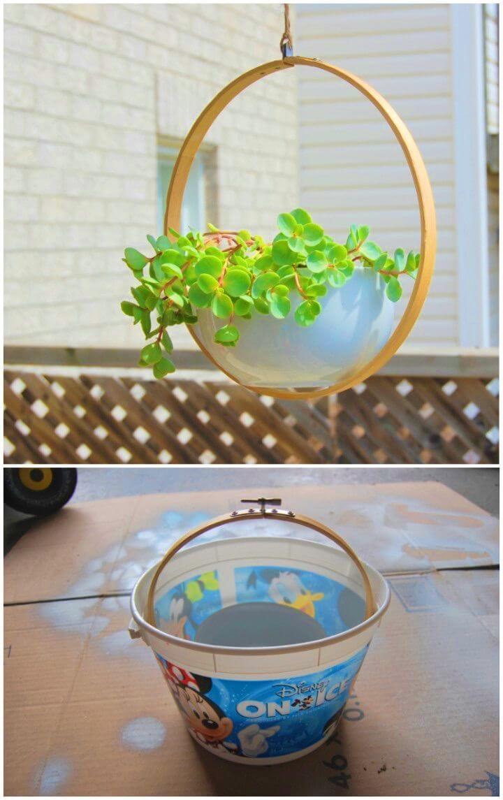 Pretty Cool DIY Hanging Planter