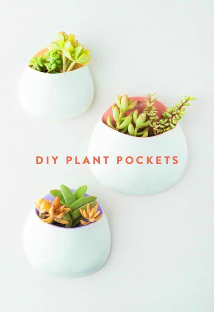 Pretty DIY Air Dry Clay Wall Planters