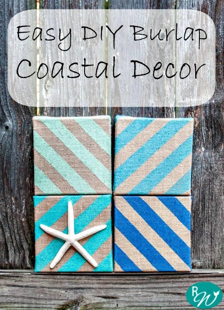 Pretty DIY Coastal Decor with Burlap