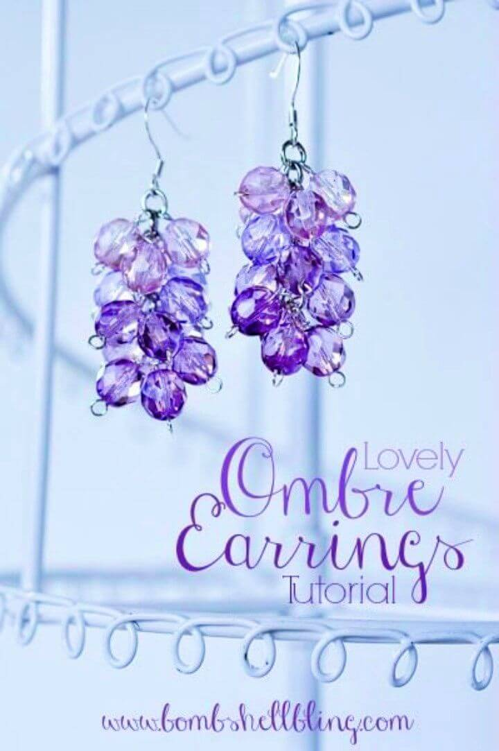 Pretty DIY Ombre Earrings