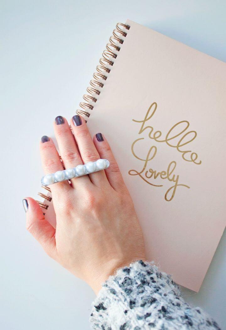 Pretty DIY Pearl Statement Ring