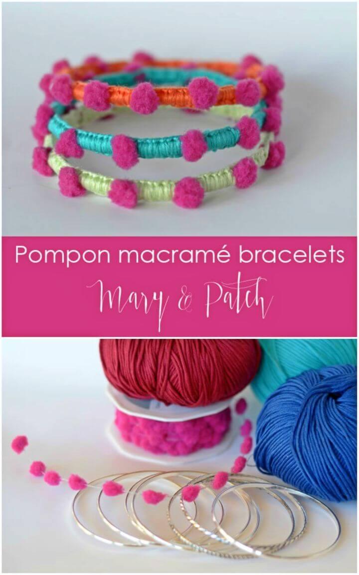 Pretty DIY Pompom Bracelets