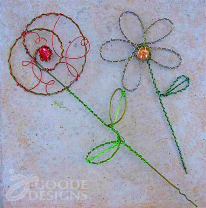 Pretty DIY Wire Garden Art