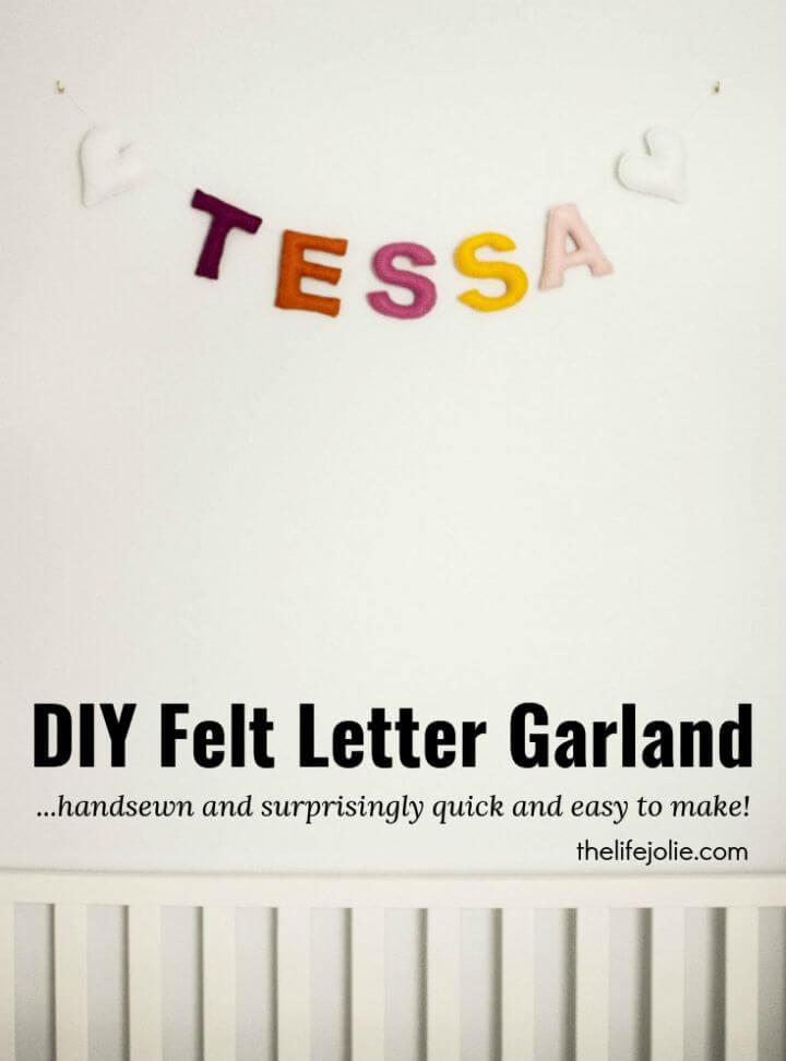 Quick DIY Felt Letter Garland