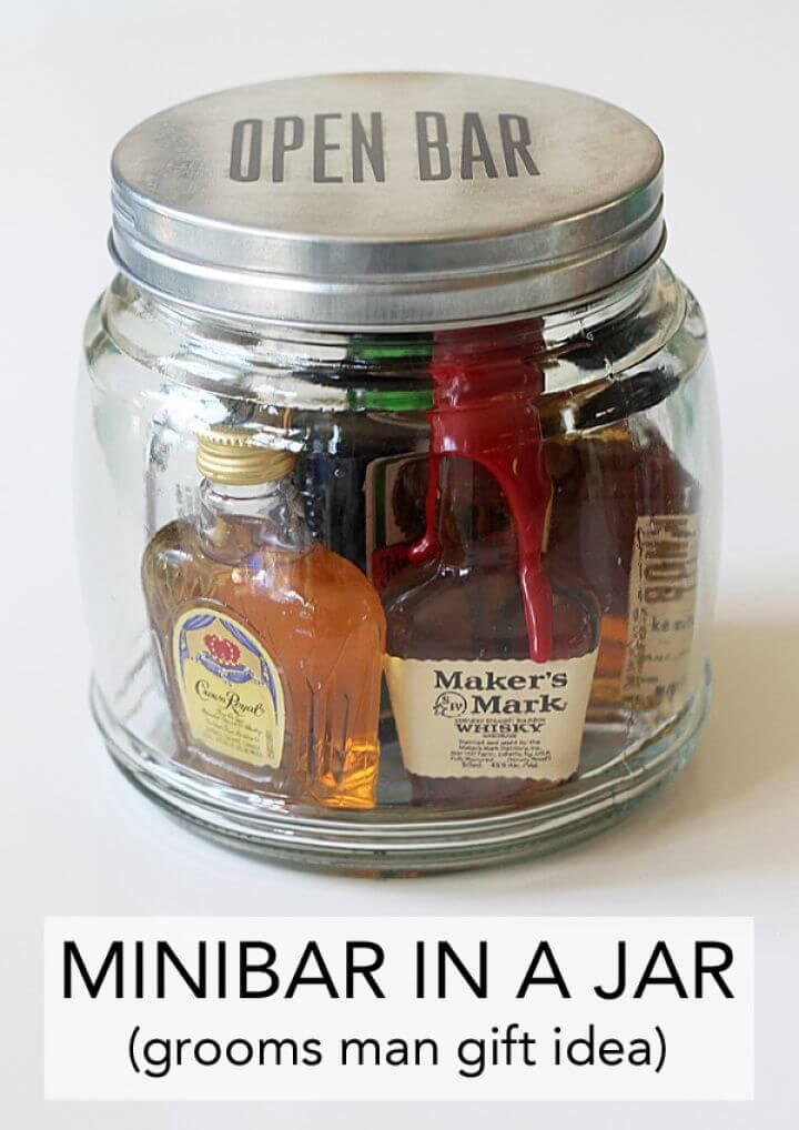 Quick DIY Minibar in a Jar Gift